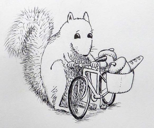 Squirrel Biker