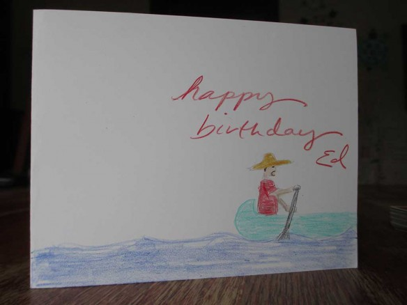 My birthday card from Nikole
