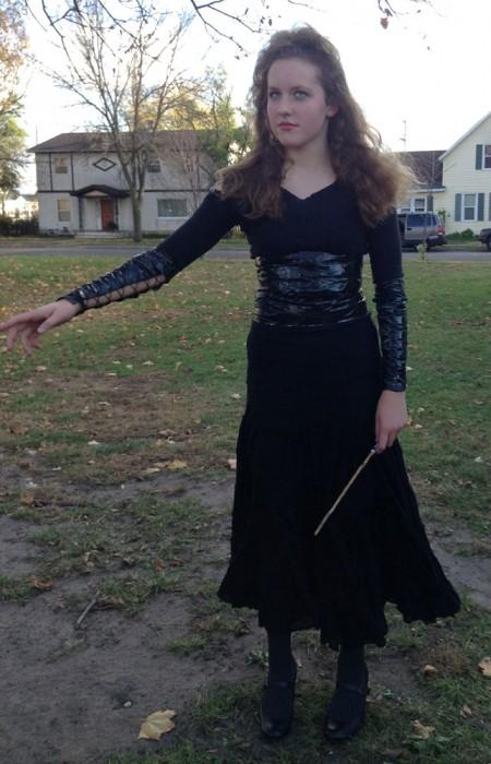 Claire in Malleficent costume