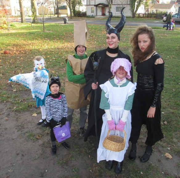 The Hale family in costume