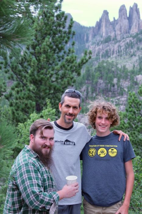 Edward Erdmann, Edward Hale, and the younger Edward Hale in the Black Hills