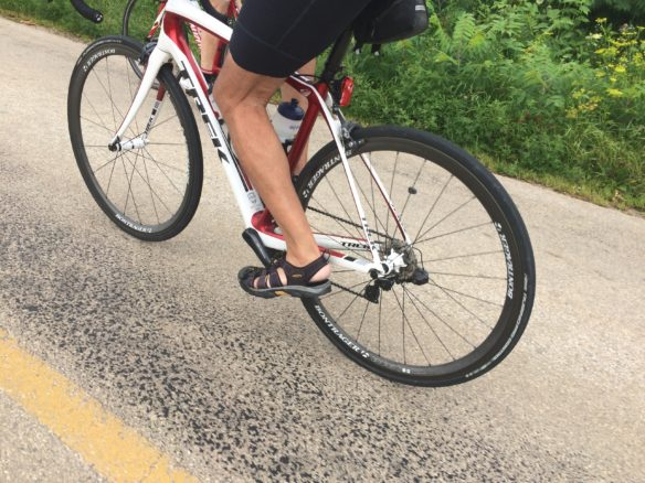 Steve O'Mally's keens cycling sandals