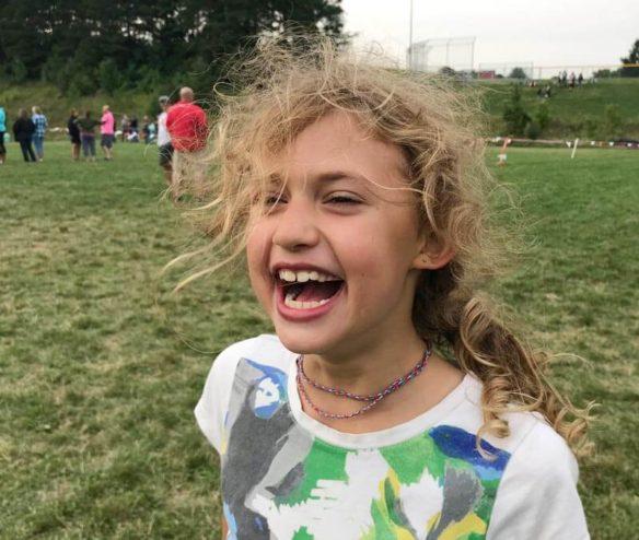 Lydia laughing