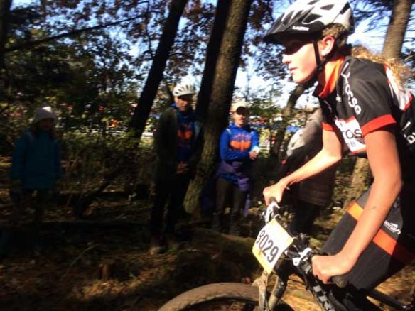 Ruthie in a mountain bike race